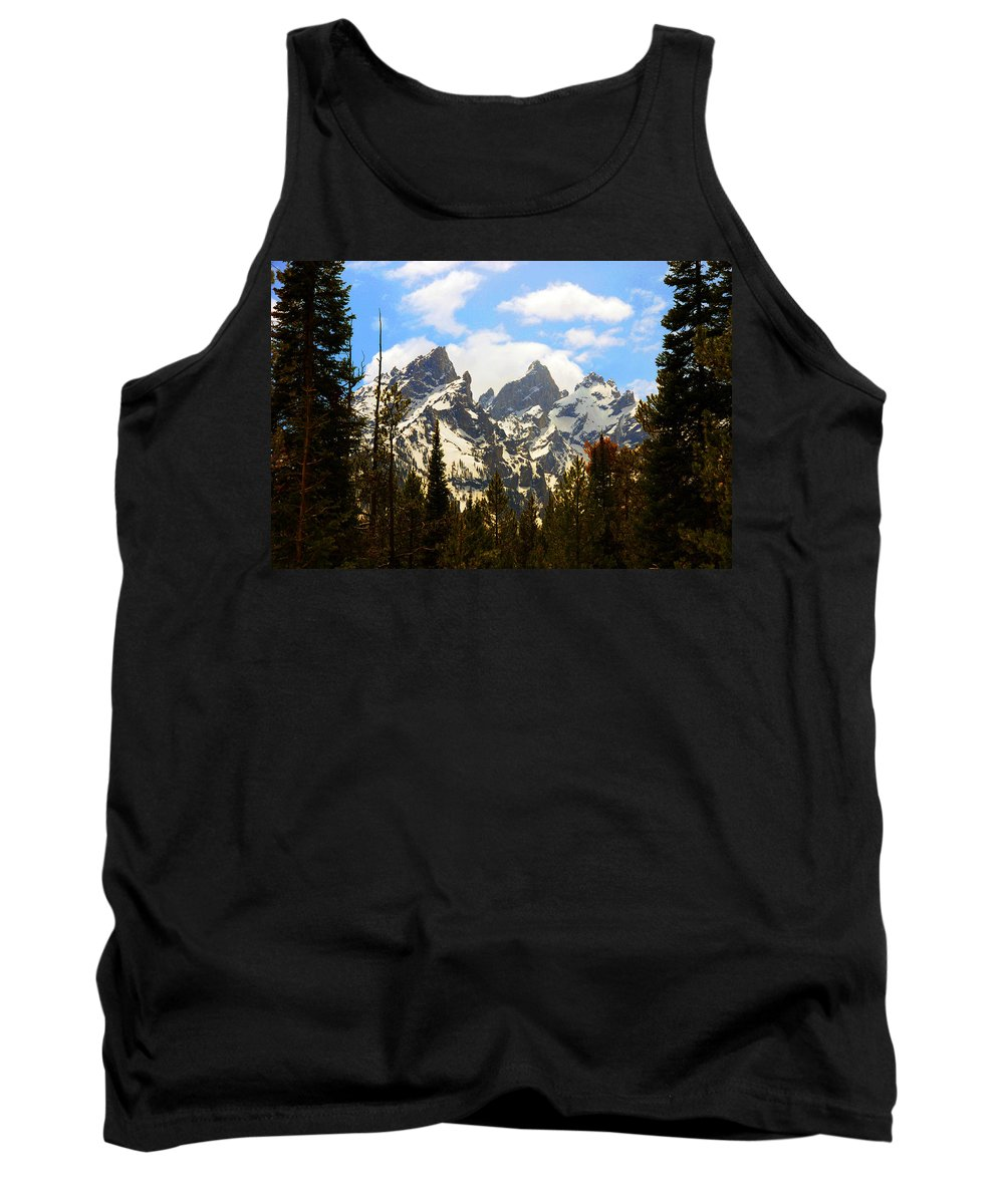 Photography Tank Top featuring the photograph The Grand Tetons by Susanne Van Hulst