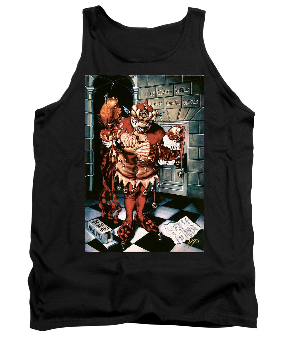 Jester Tank Top featuring the painting The Jesterook by Patrick Anthony Pierson