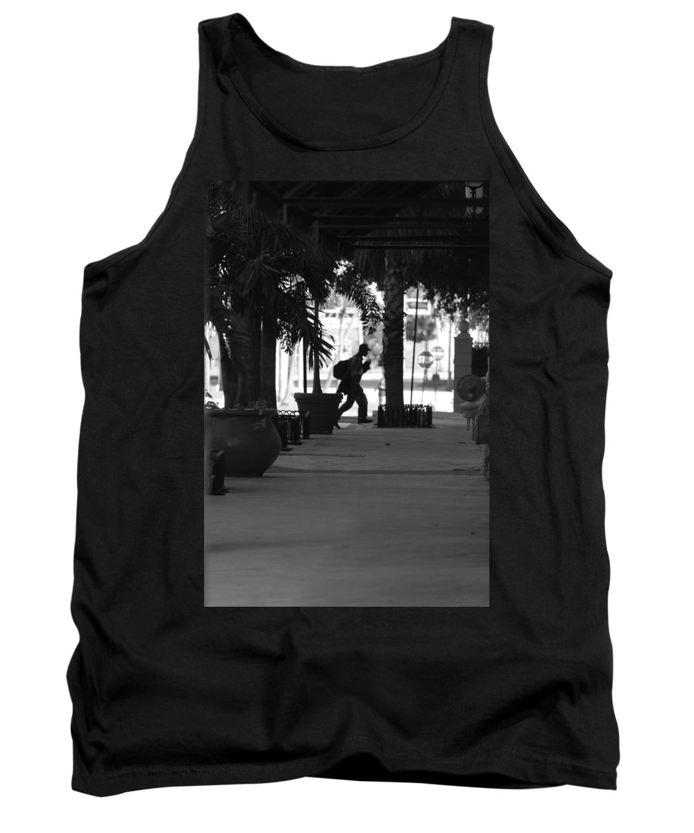 Street Scene Tank Top featuring the photograph The Post Man by Rob Hans
