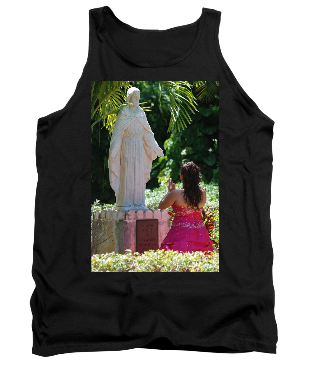 Portrait Tank Top featuring the photograph The Praying Princess by Rob Hans