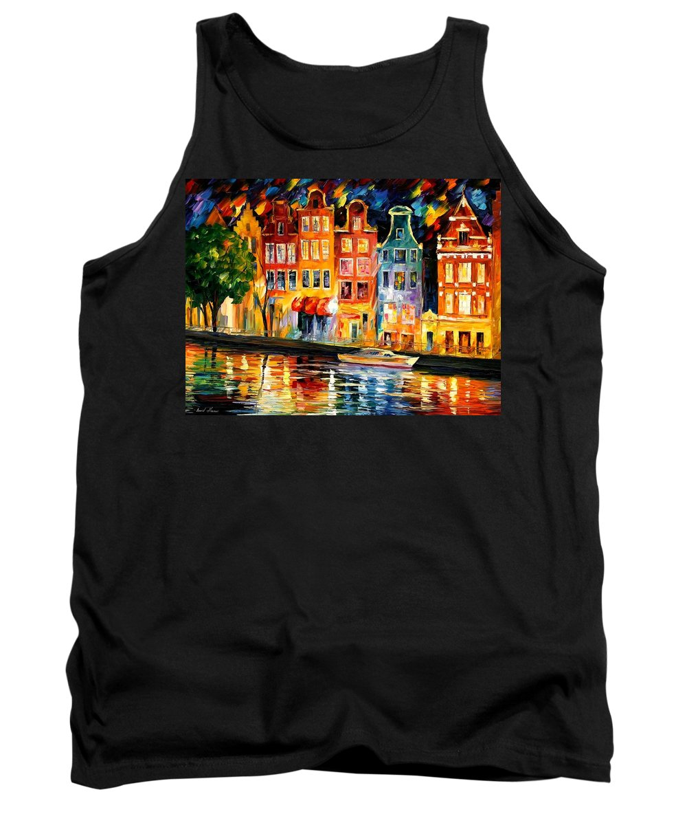 Afremov Tank Top featuring the painting The Sky Of Amsterdam by Leonid Afremov