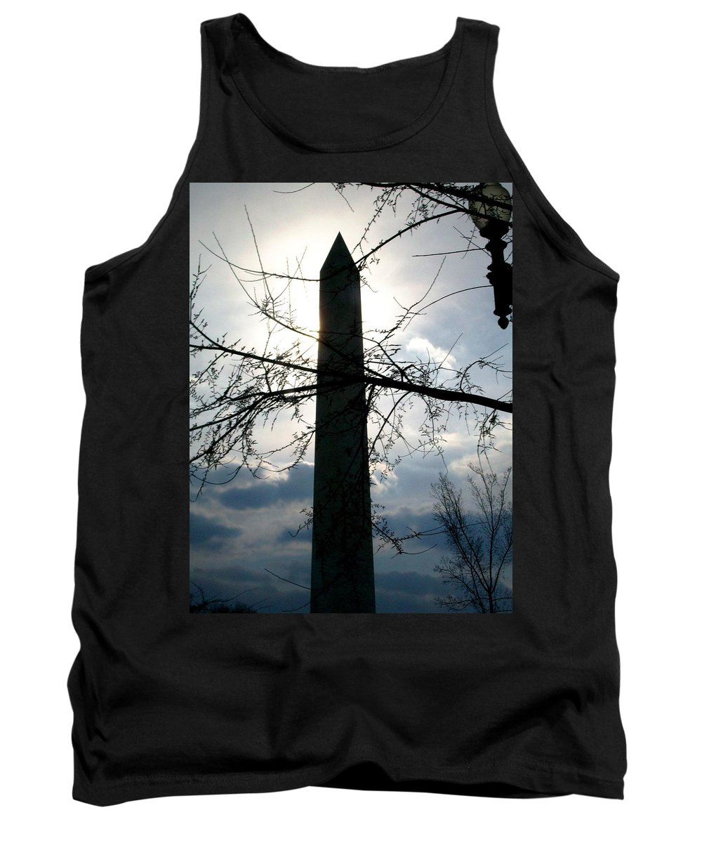 Photography Tank Top featuring the pyrography The Washington Monument by Fareeha Khawaja