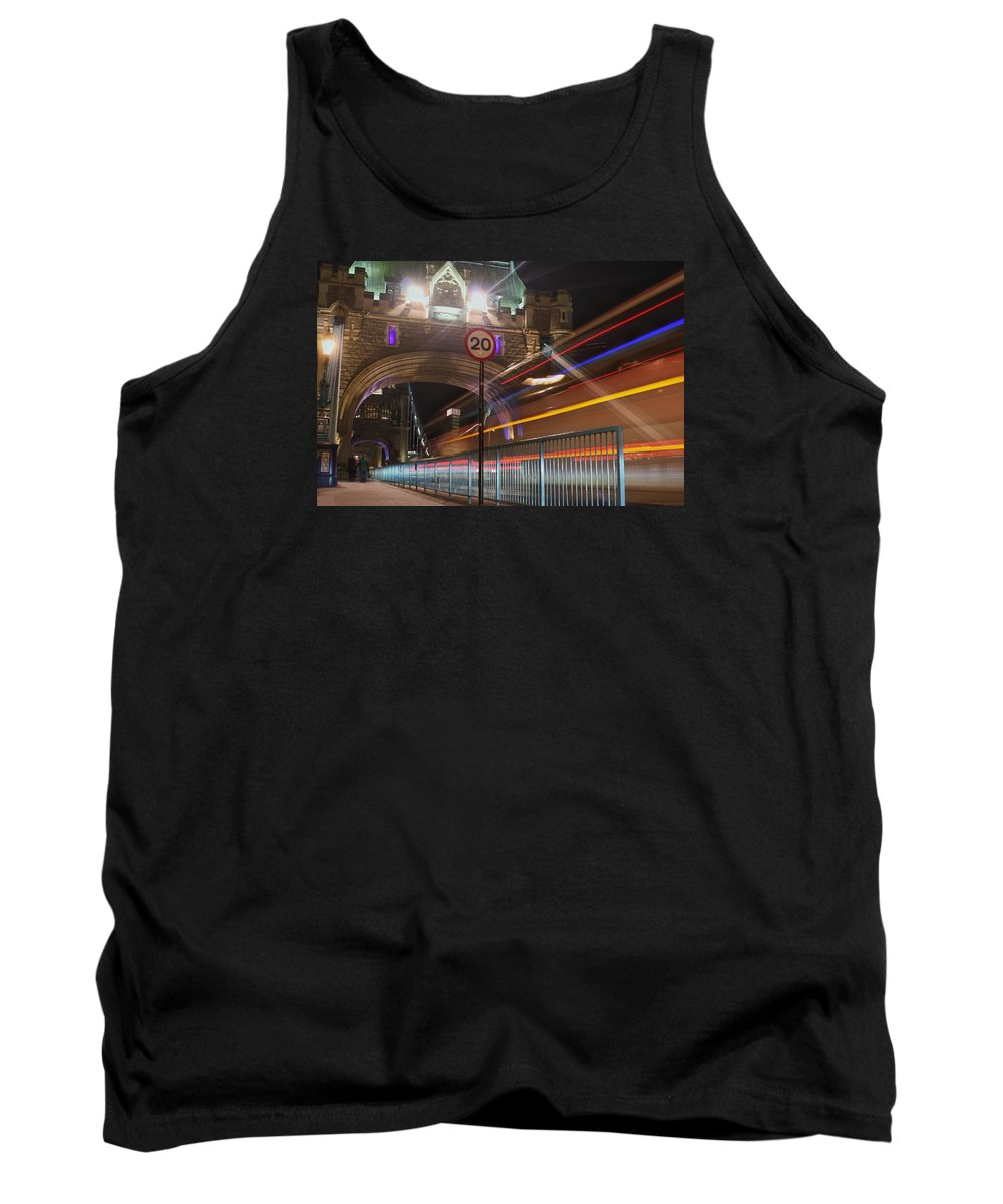 Landcsape Tank Top featuring the painting Tower Bridge 2 by Karlis Petersons
