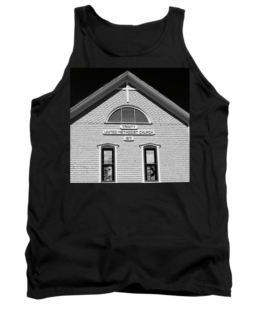 Fine Art Photography Tank Top featuring the photograph Trinity Church 1871 by David Lee Thompson