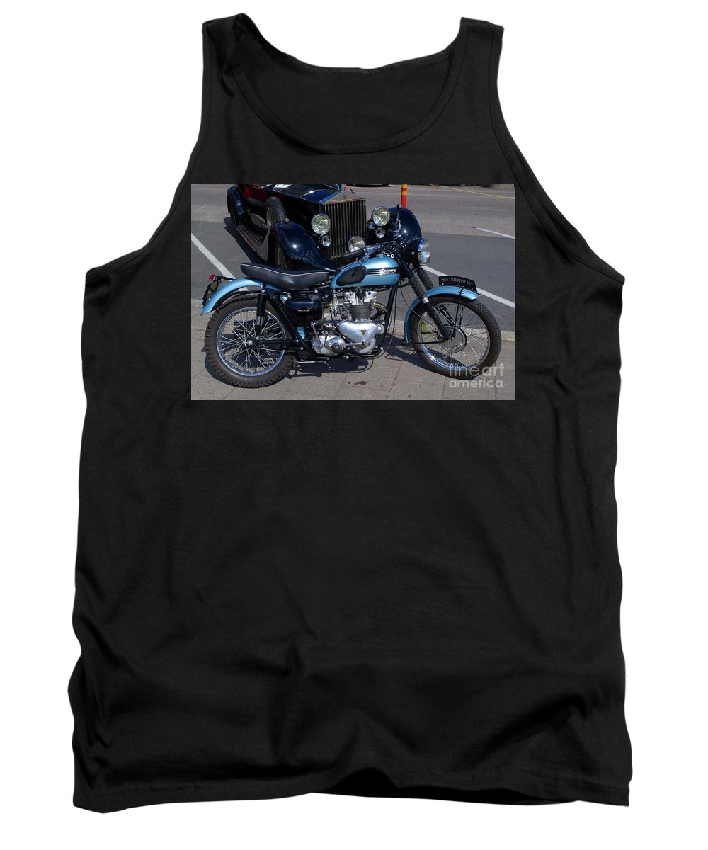 Motorcycle Tank Top featuring the photograph Triumph by Esko Lindell