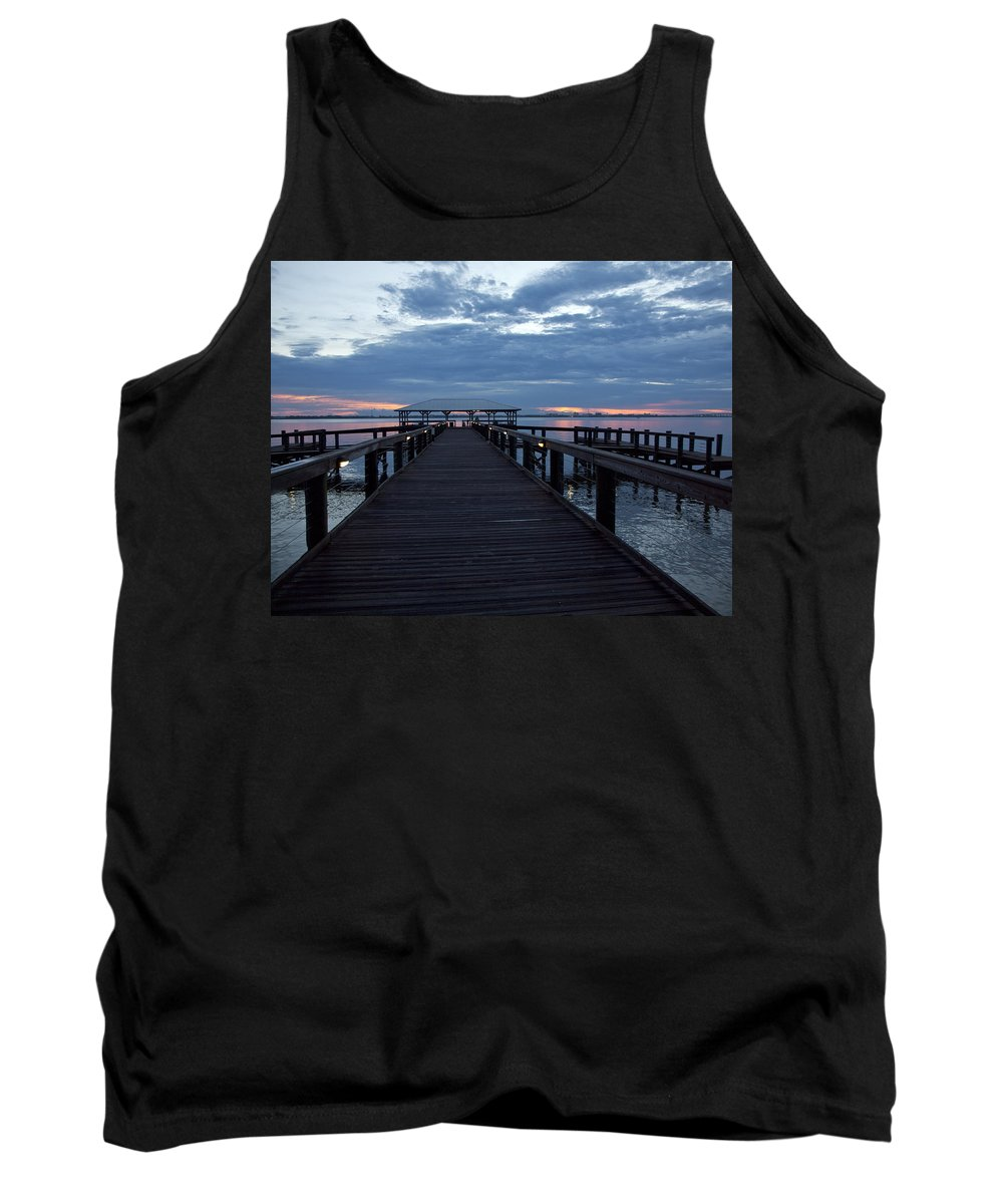 Twilight Tank Top featuring the photograph Tropic Twilight On The Indian River by Allan Hughes