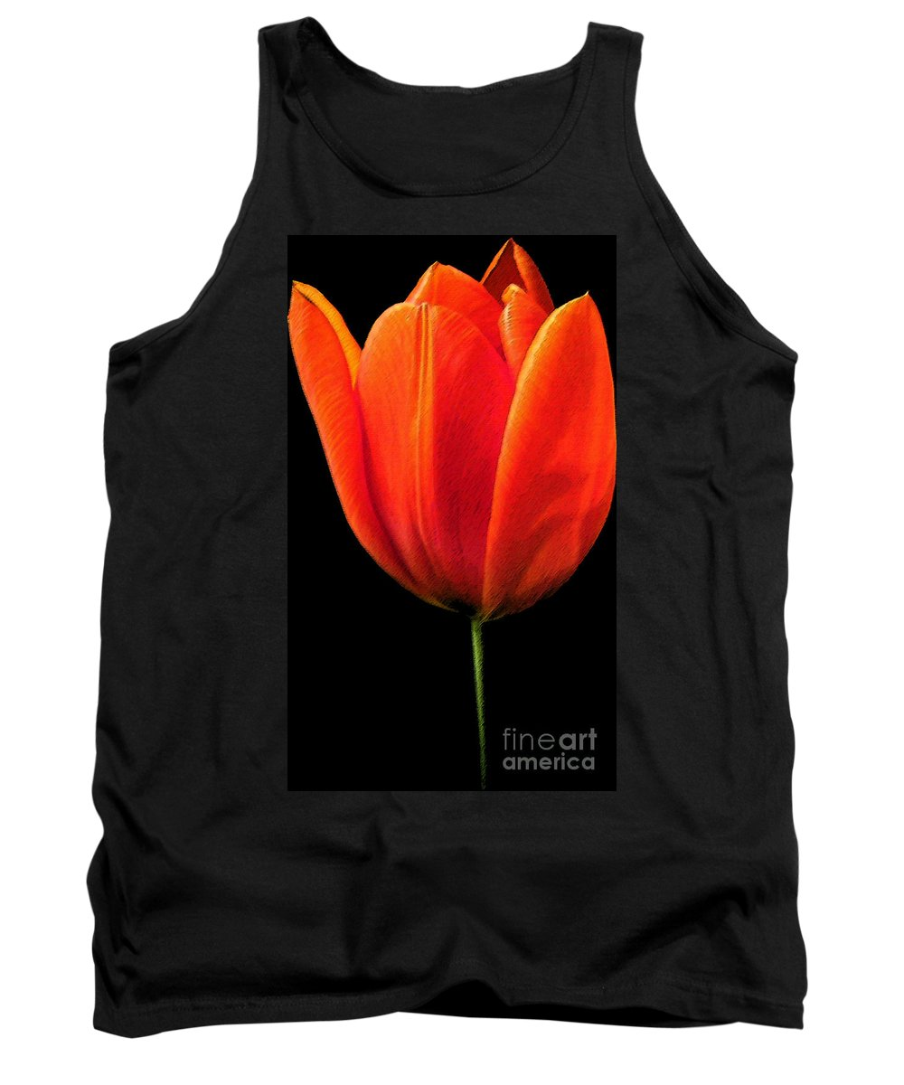 Tulips Tank Top featuring the photograph Tulip by Amanda Barcon