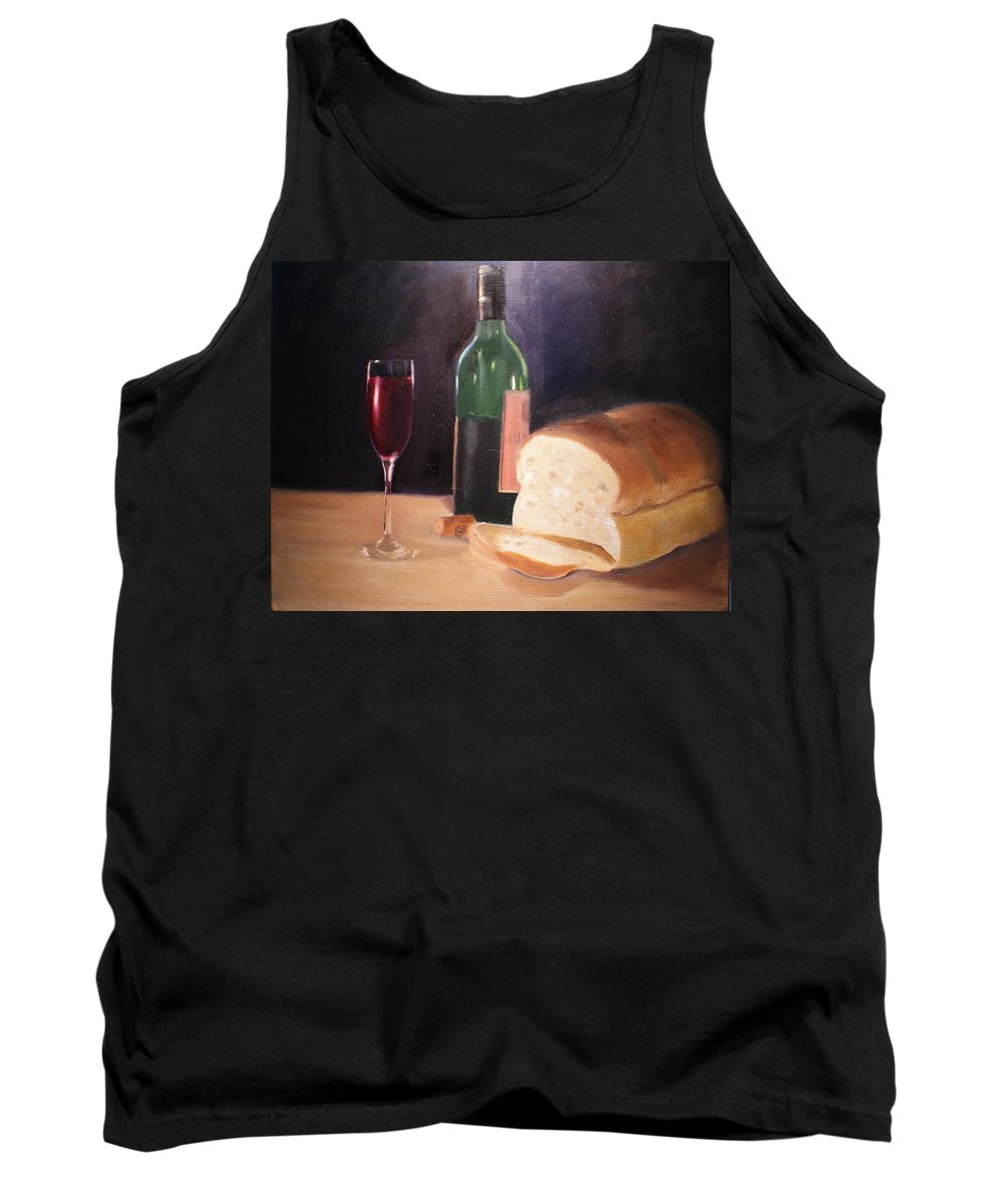 Wine Tank Top featuring the painting Untitled by Toni Berry