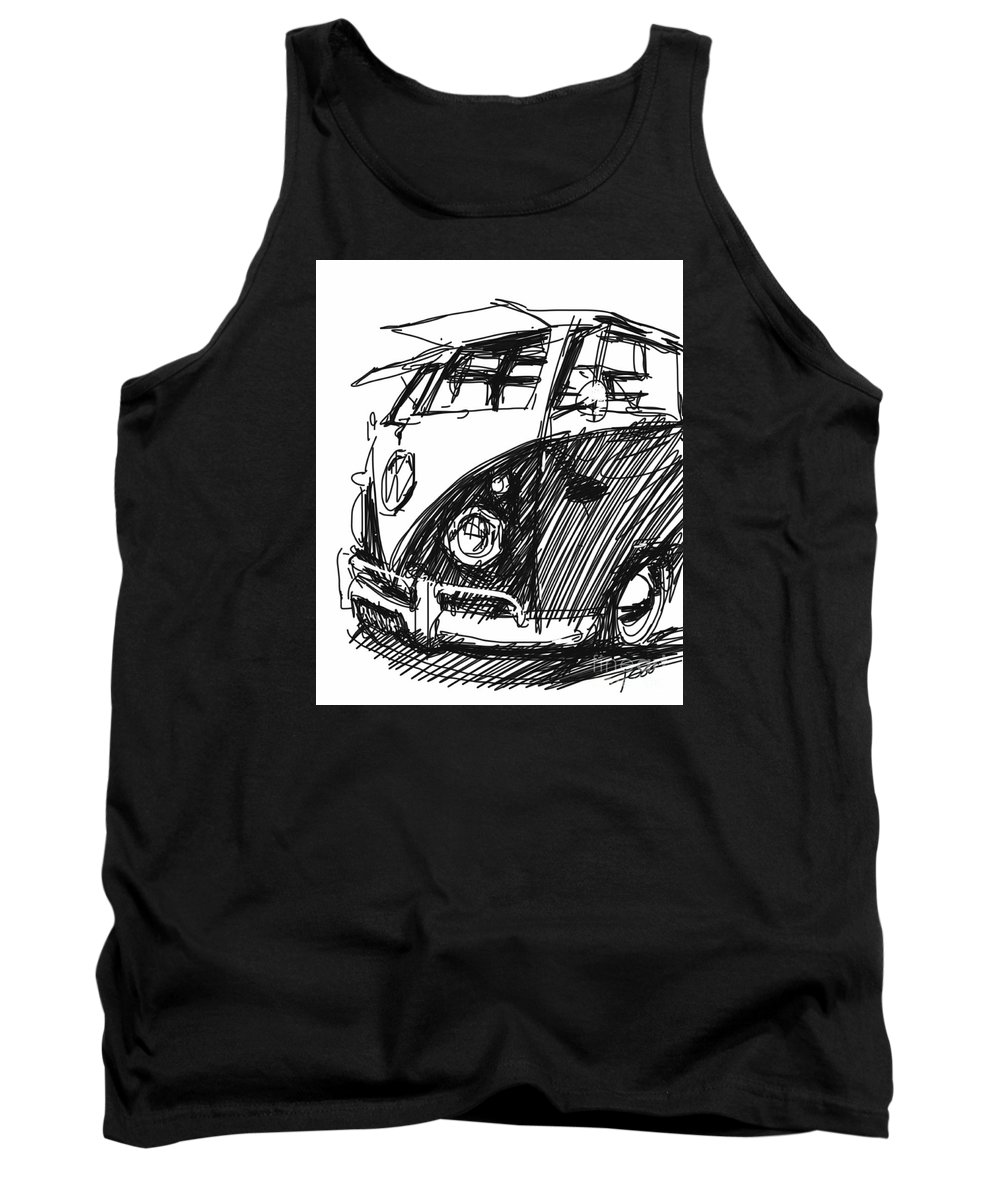 Vw Tank Top featuring the painting Vw Bus by Peter Fogg