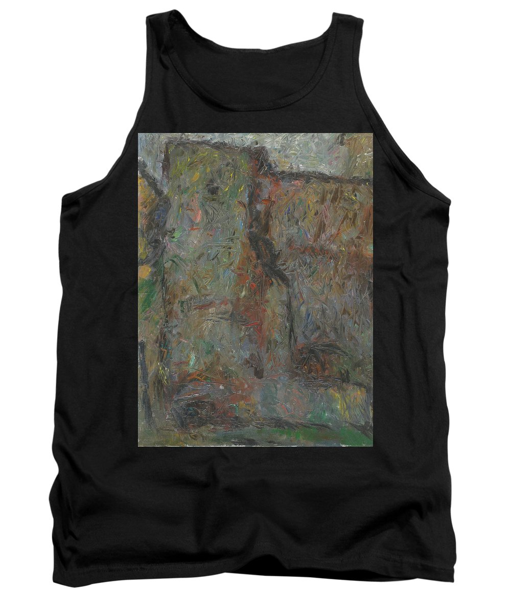 Wall Tank Top featuring the painting Wall by Robert Nizamov