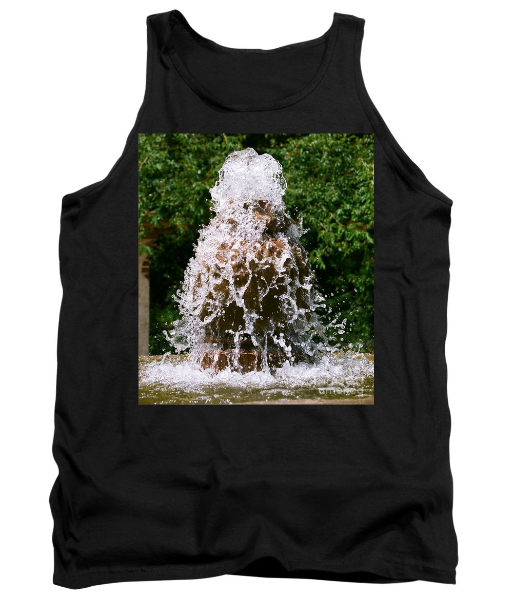 Water Tank Top featuring the photograph Water Fountain by Dean Triolo