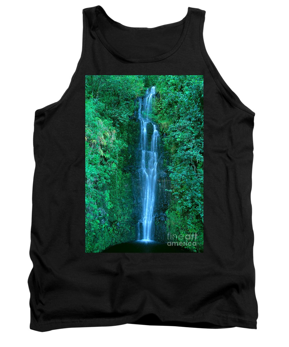 Active Tank Top featuring the photograph Waterfall Close-up by Bill Brennan - Printscapes