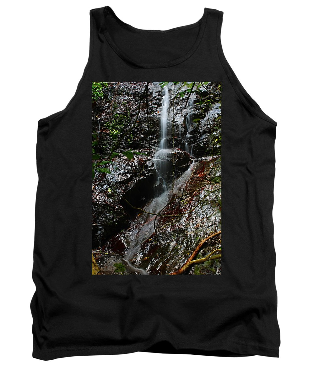 Tank Top featuring the photograph Waterfall by Galeria Trompiz