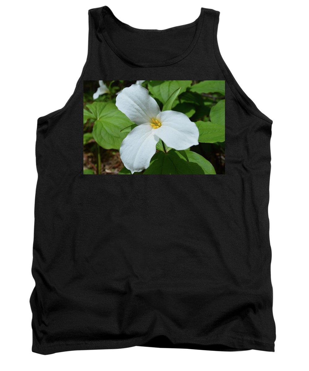 Wildflower Tank Top featuring the photograph White Trillium by Lyle Crump