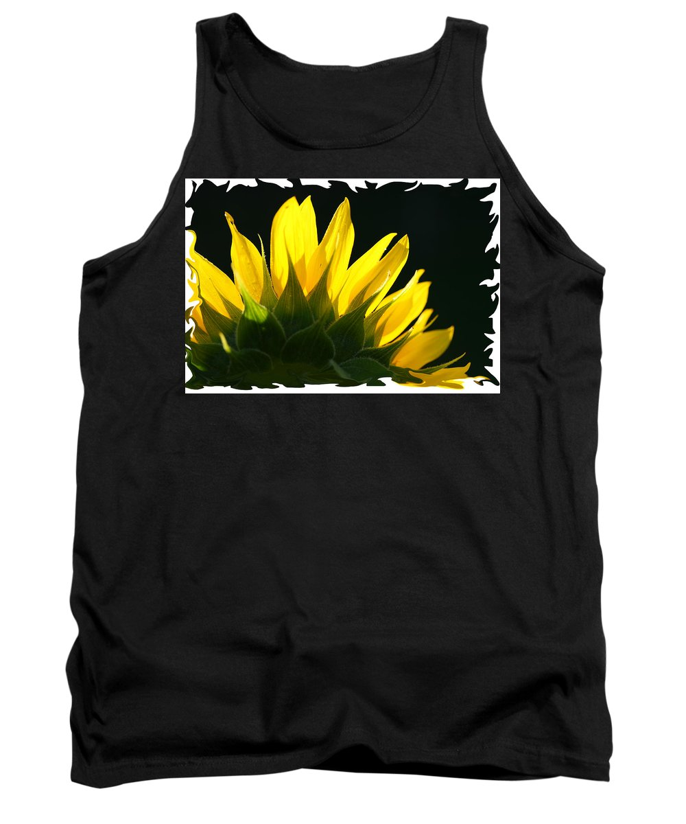 Sunflower Yellow Plant Green Photograph Phogotraphy Digital Art Tank Top featuring the photograph Wild Sunflower by Shari Jardina