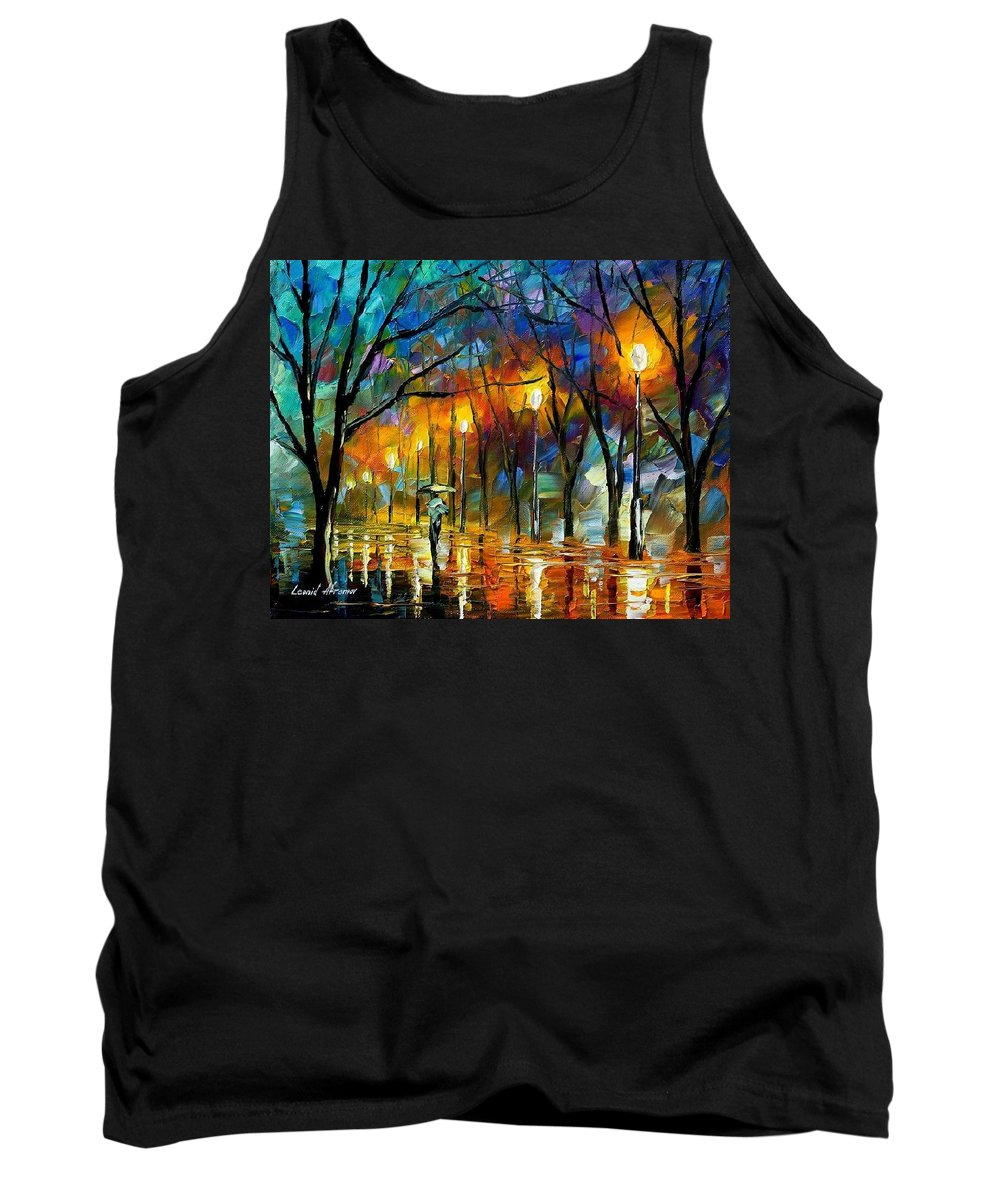 Landscape Tank Top featuring the painting Winter by Leonid Afremov