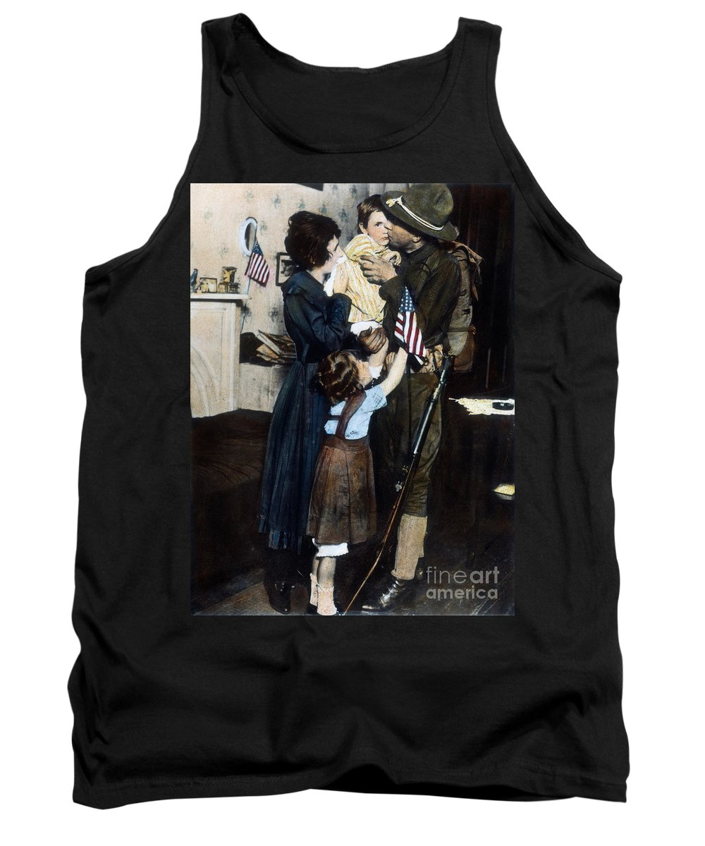 1917 Tank Top featuring the photograph World War I: Deployment by Granger