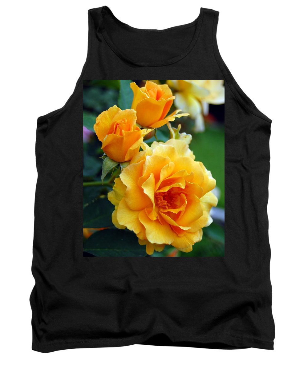 Flower Tank Top featuring the photograph Yellow Roses by Amy Fose
