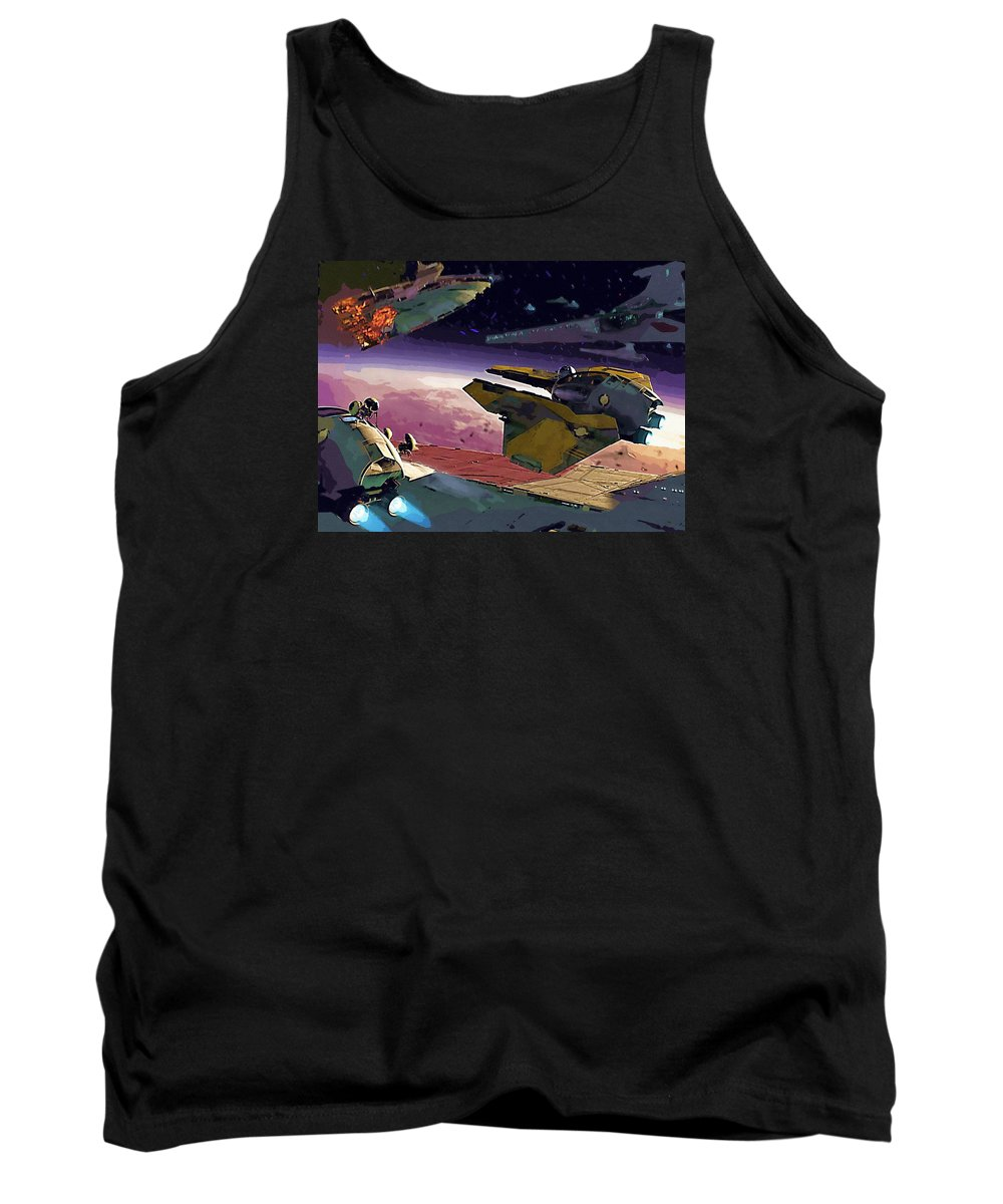 Star Wars For Tank Top featuring the digital art A Star Wars Poster by Larry Jones