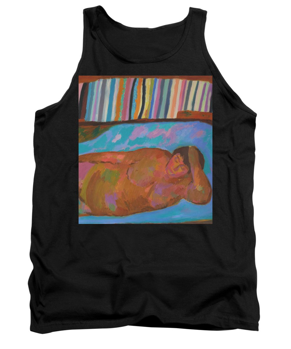 Beauty Tank Top featuring the painting Model by Robert Nizamov