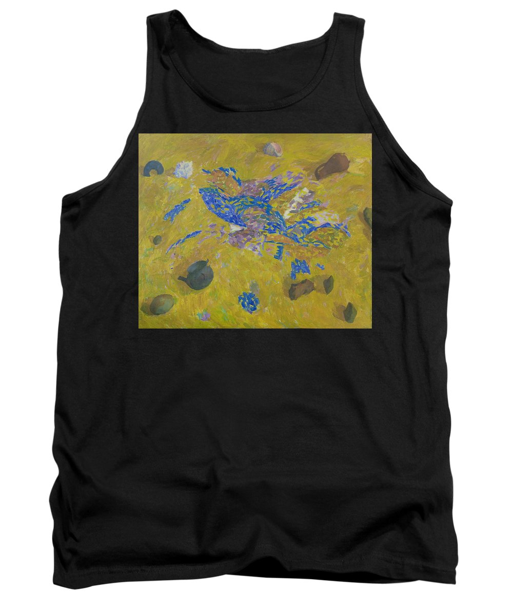 Sand Tank Top featuring the painting Still Life by Robert Nizamov