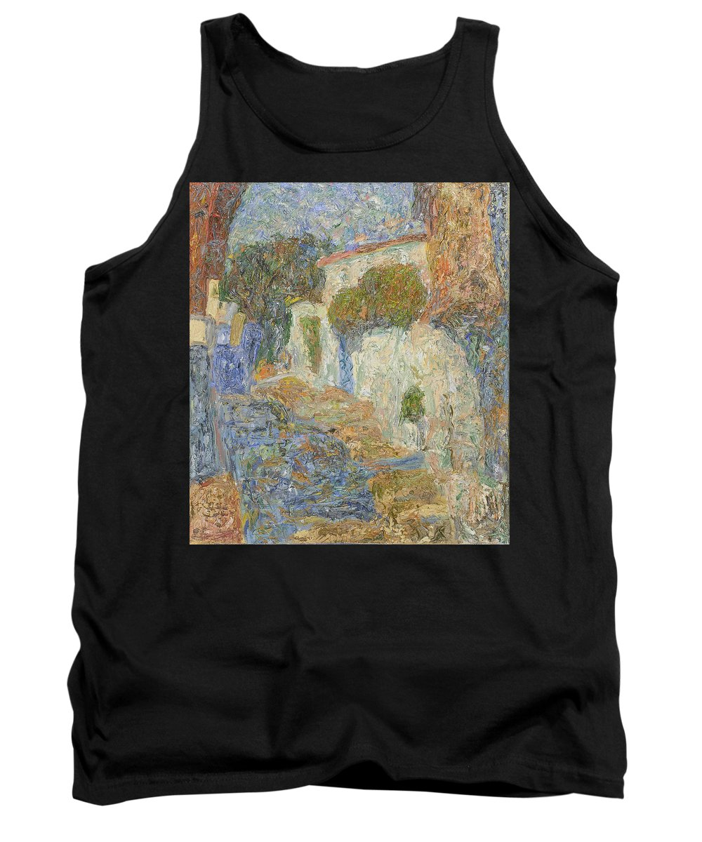 Landscape Tank Top featuring the painting Alupka by Robert Nizamov
