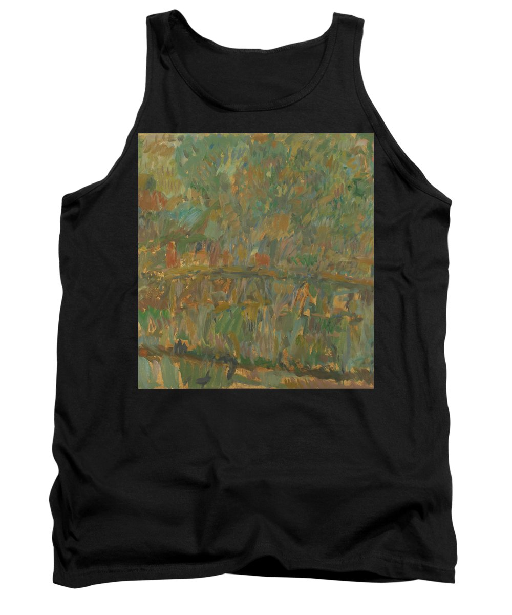 River Tank Top featuring the painting Bridge by Robert Nizamov