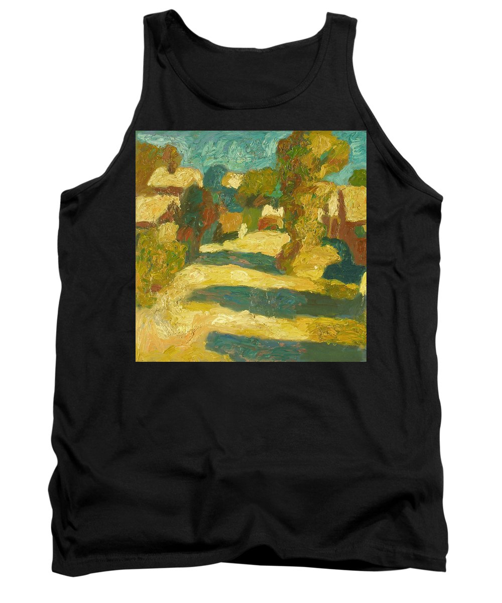 Street Tank Top featuring the painting Landscape by Robert Nizamov