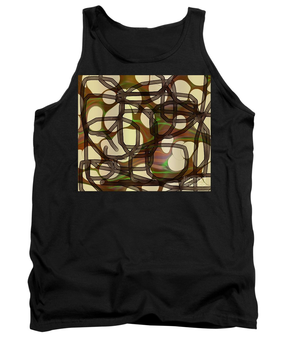 Abstract Art Tank Top featuring the digital art 1197exp3 by Ron Bissett