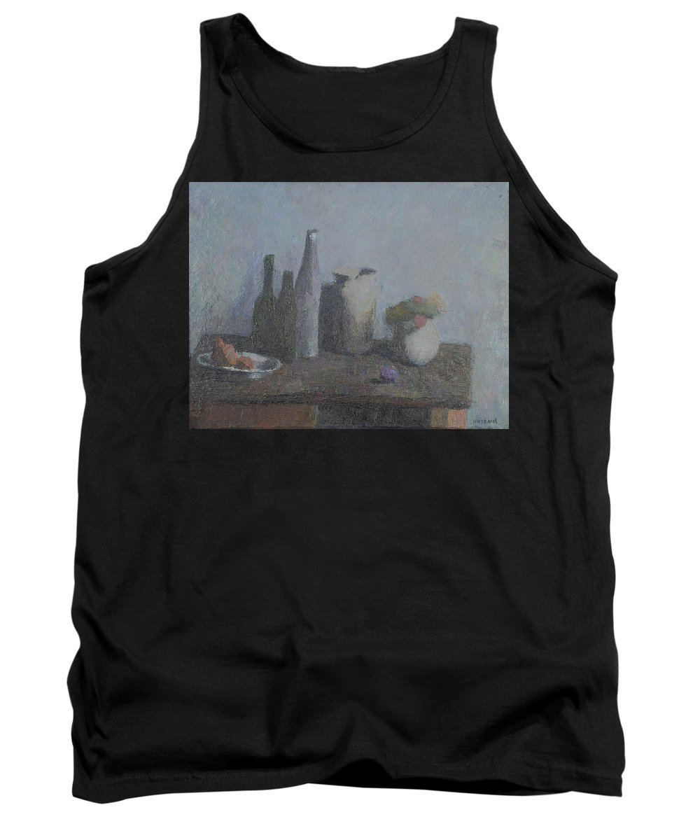 Bottle Tank Top featuring the painting Still Life by Robert Nizamov