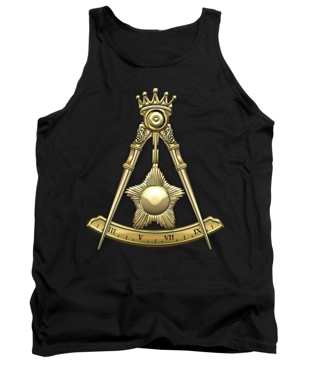 'ancient Brotherhoods' Collection By Serge Averbukh Tank Top featuring the digital art 14th Degree Mason - Perfect Elu Masonic Jewel by Serge Averbukh