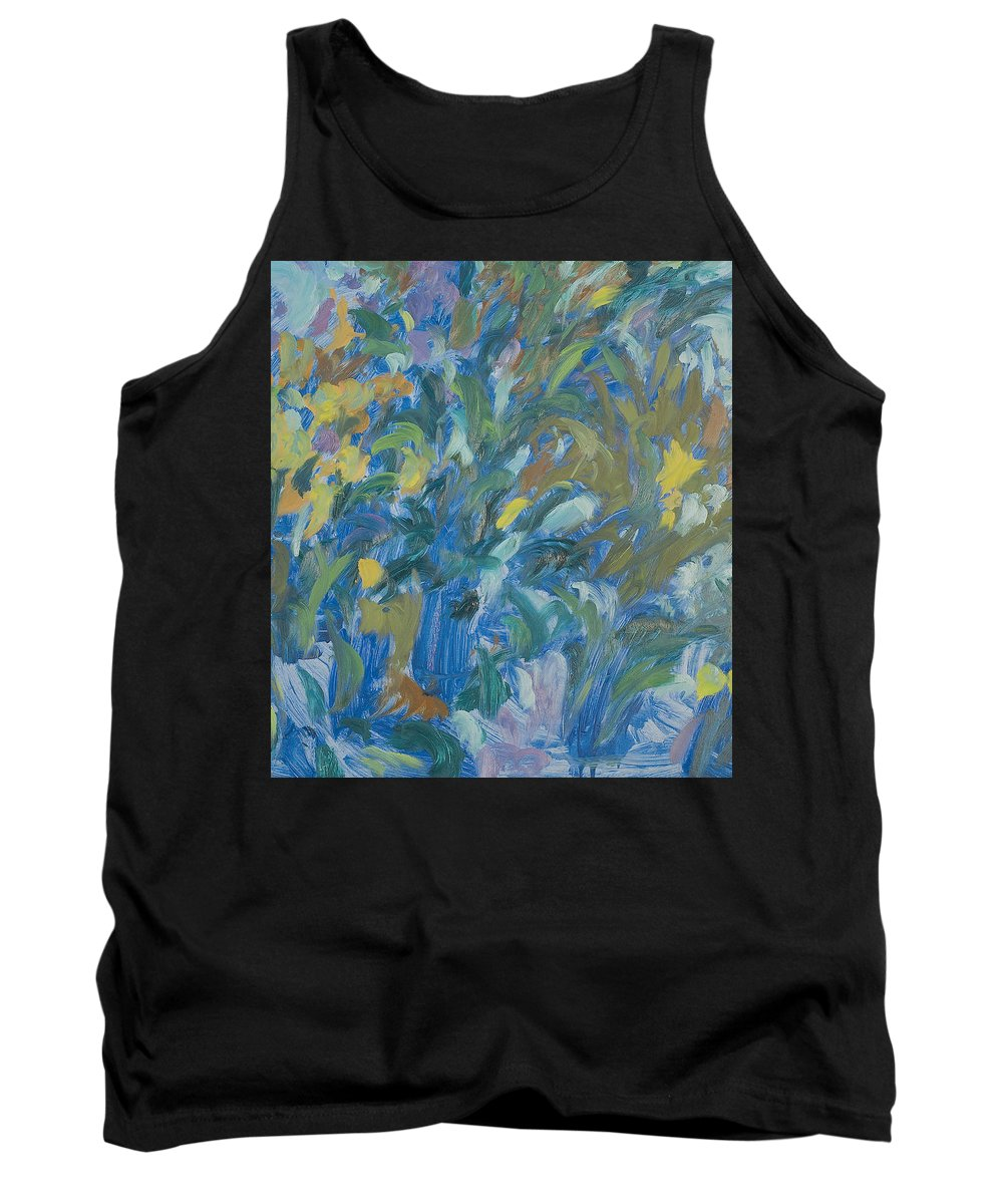 Bouquet Tank Top featuring the painting Flowers by Robert Nizamov