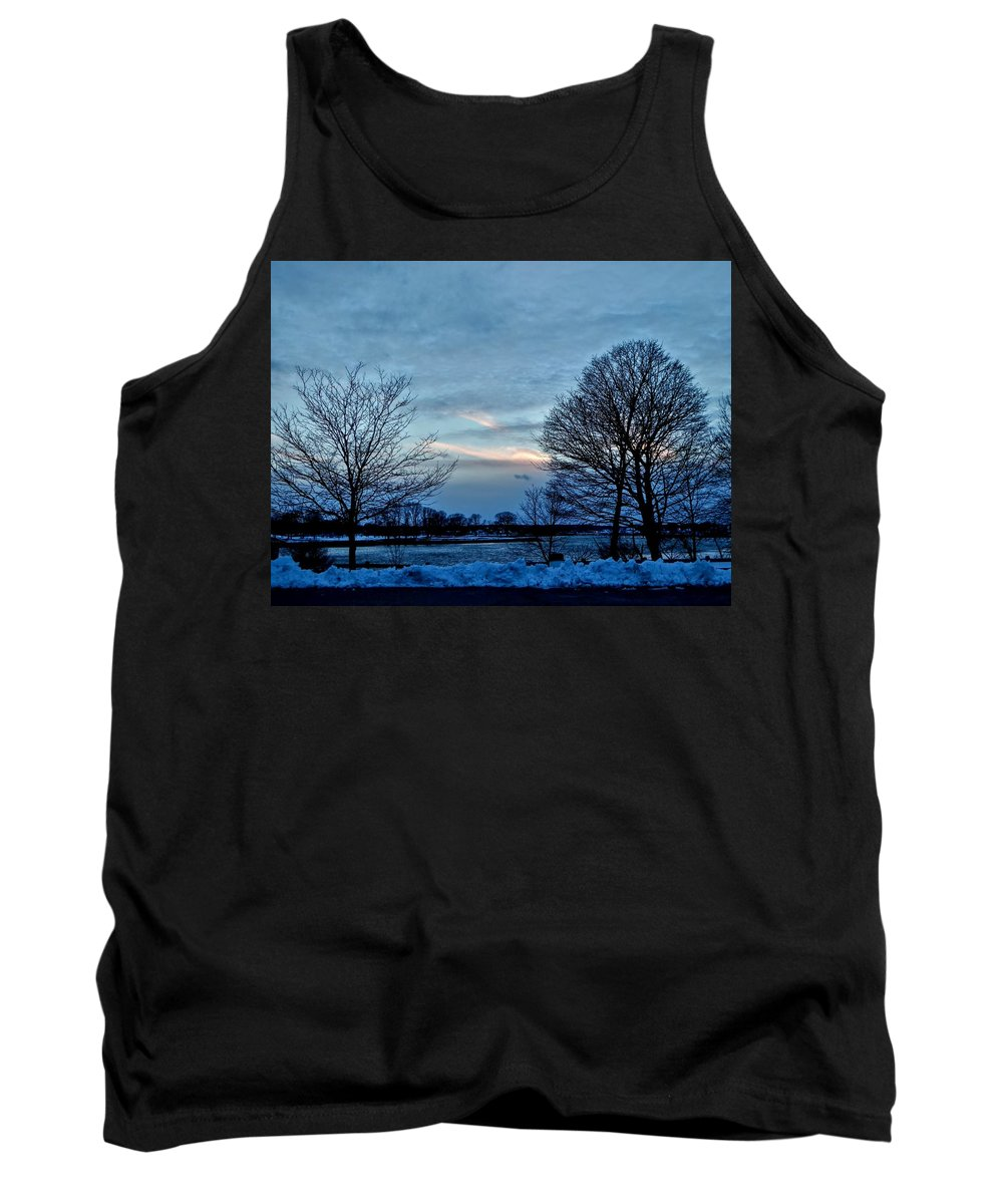 Sunset Tank Top featuring the photograph Sunset Over Obear Park In Snow by Scott Hufford