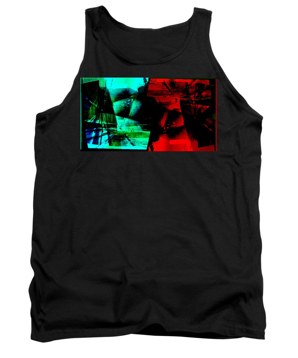 Abstract Tank Top featuring the digital art Abstract by Galeria Trompiz