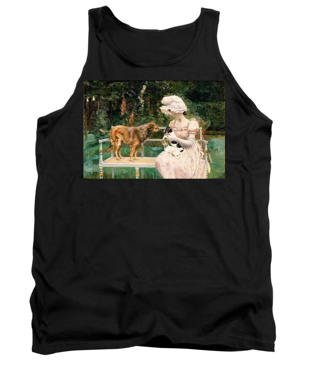 Terrier Tank Top featuring the digital art Charles Henry Tenre by Eloisa Mannion