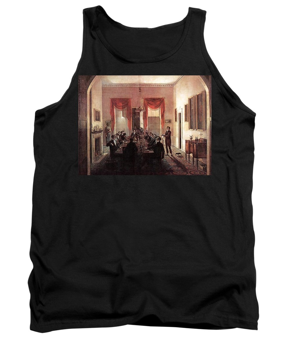 Throne Tank Top featuring the digital art Jlm-1820-henry Sargent-the Dinner Party Henry Sargent by Eloisa Mannion