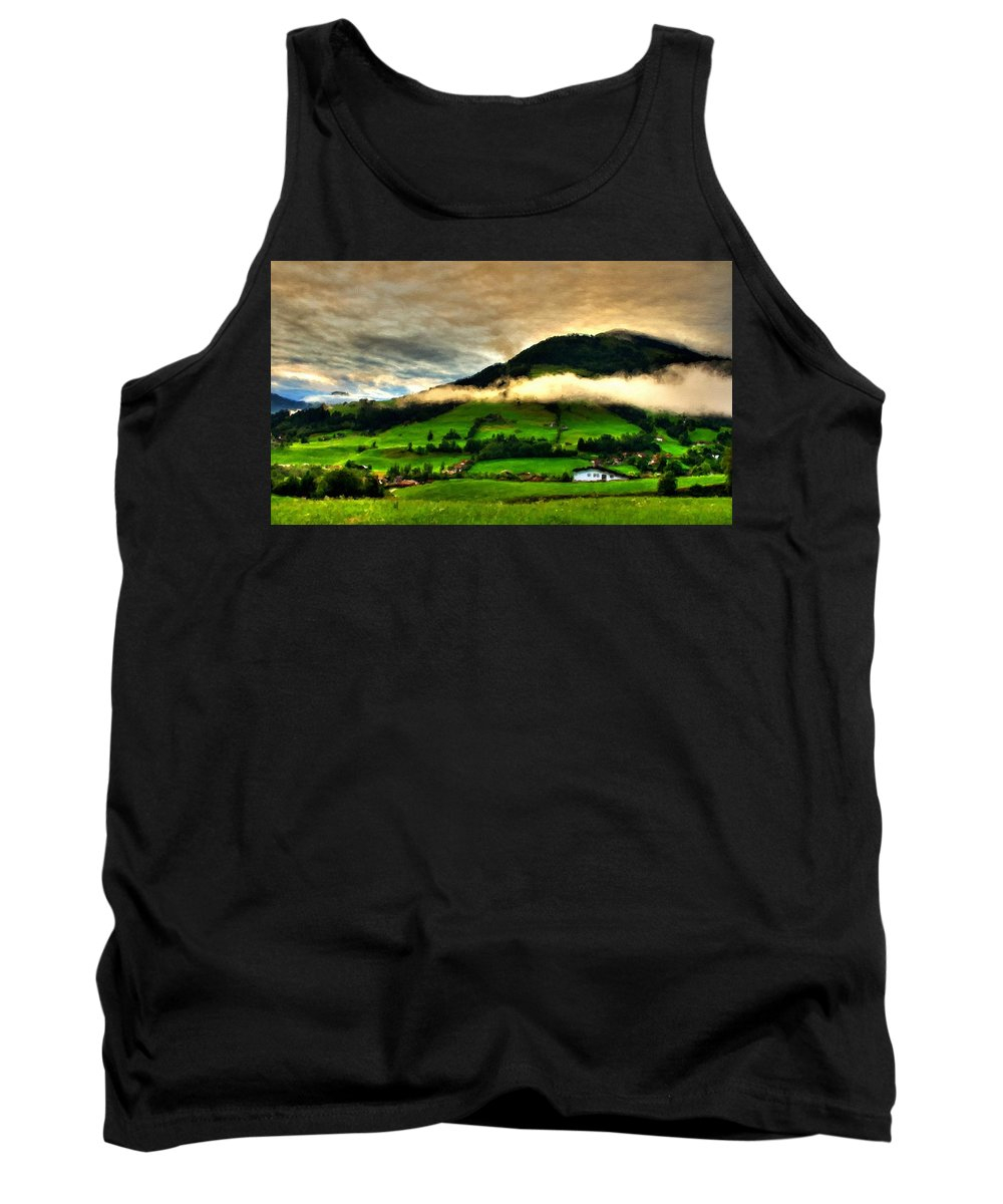 A Tank Top featuring the digital art Cool Landscape by Usa Map