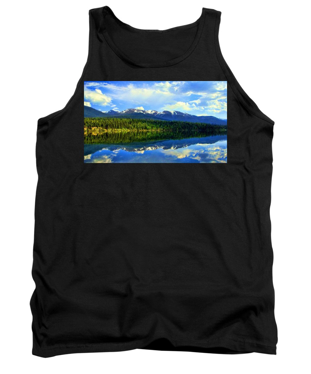 Landscape Tank Top featuring the digital art Images Landscape by Usa Map