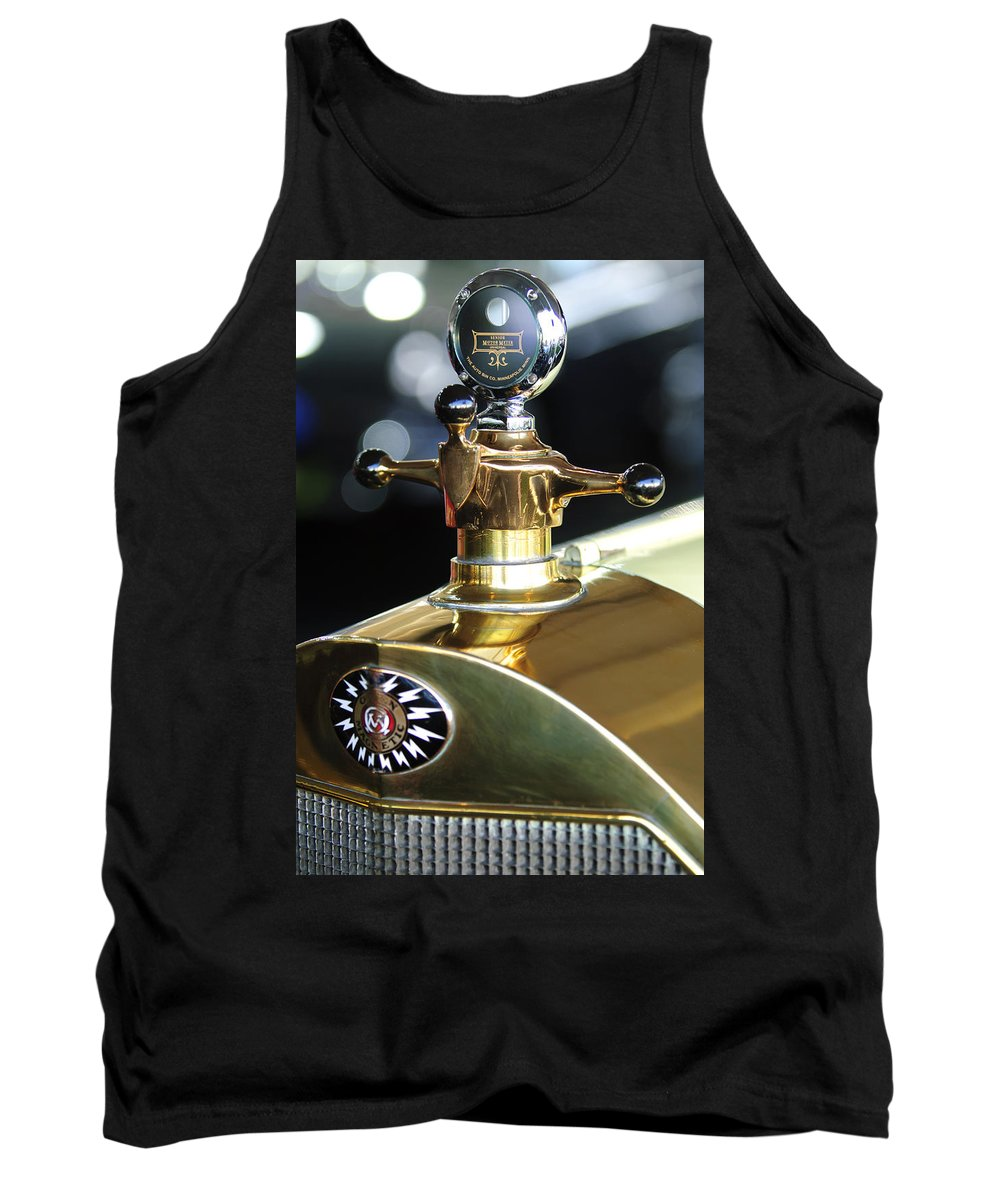 1917 Owen Magnetic M-25 Touring Tank Top featuring the photograph 1917 Owen Magnetic M-25 Hood Ornament by Jill Reger