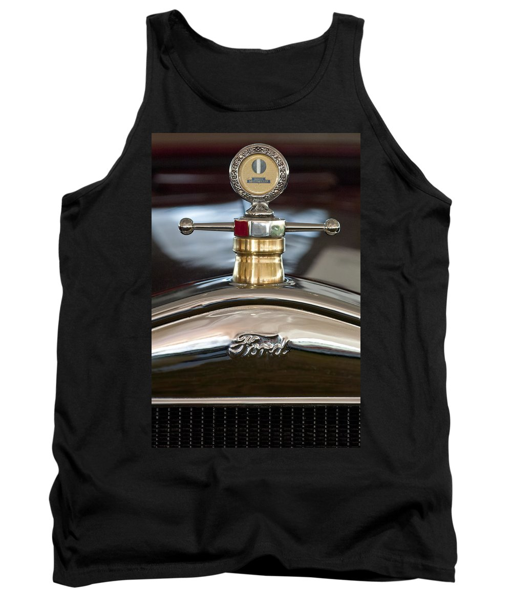 1927 Ford T Roadster Tank Top featuring the photograph 1927 Ford T Roadster Hood Ornament by Jill Reger