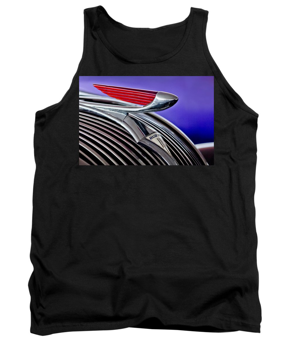 1937 Hudson Terraplane Sedan Tank Top featuring the photograph 1937 Hudson Terraplane Sedan Hood Ornament 2 by Jill Reger