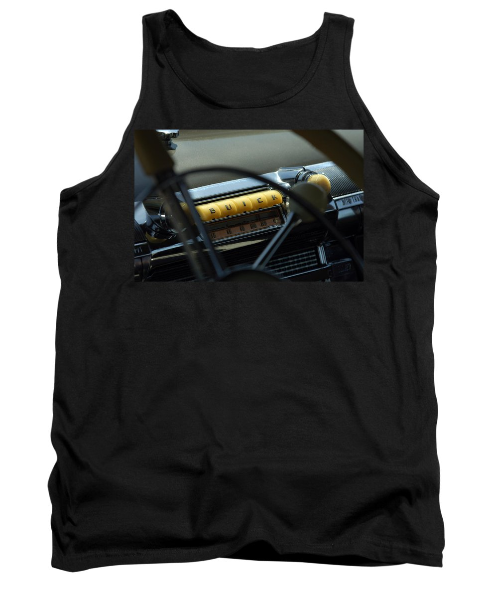 Car Tank Top featuring the photograph 1947 Buick Super Radio by Jill Reger
