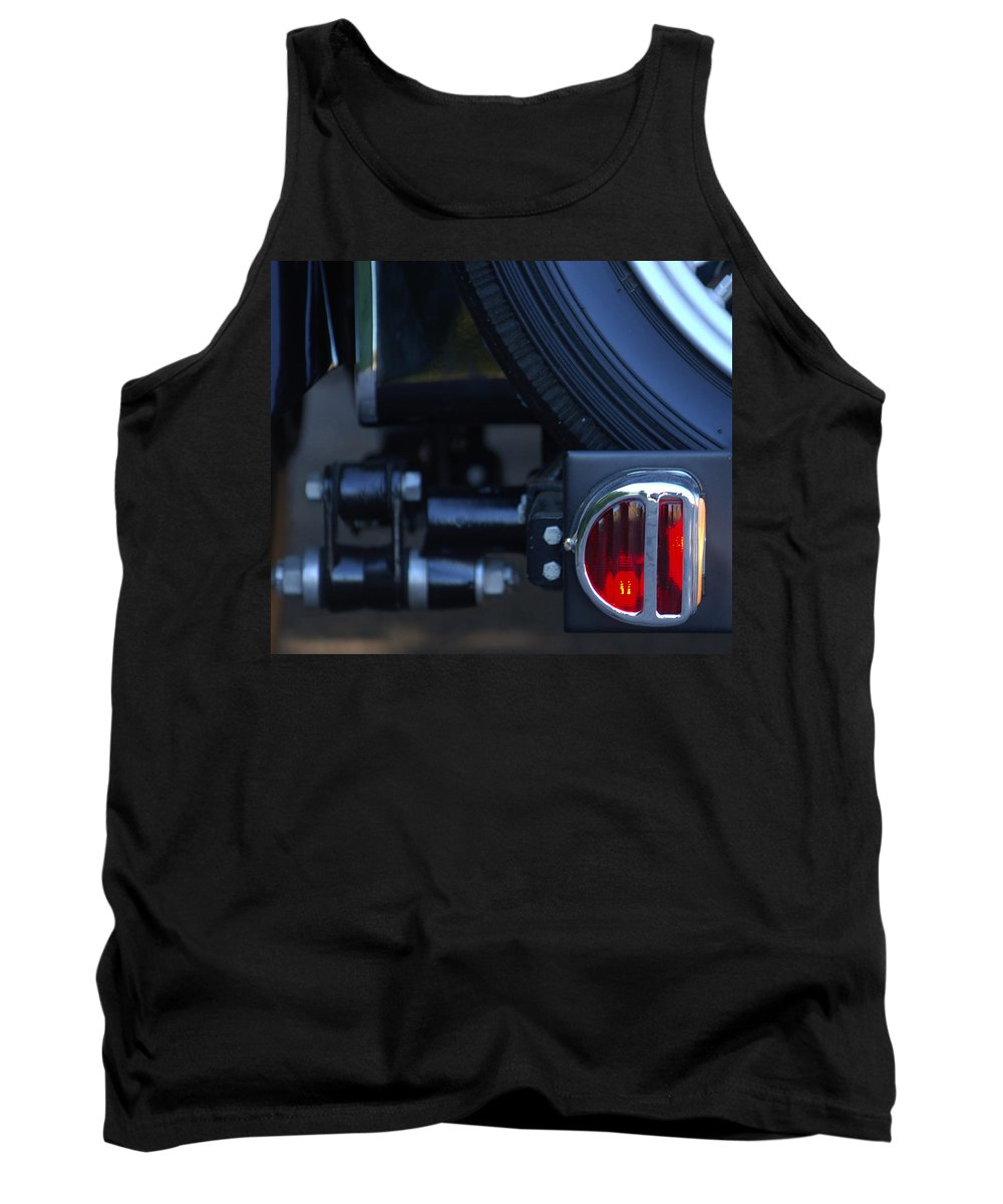 Car Tank Top featuring the photograph 1948 Mg Tc Taillight by Jill Reger