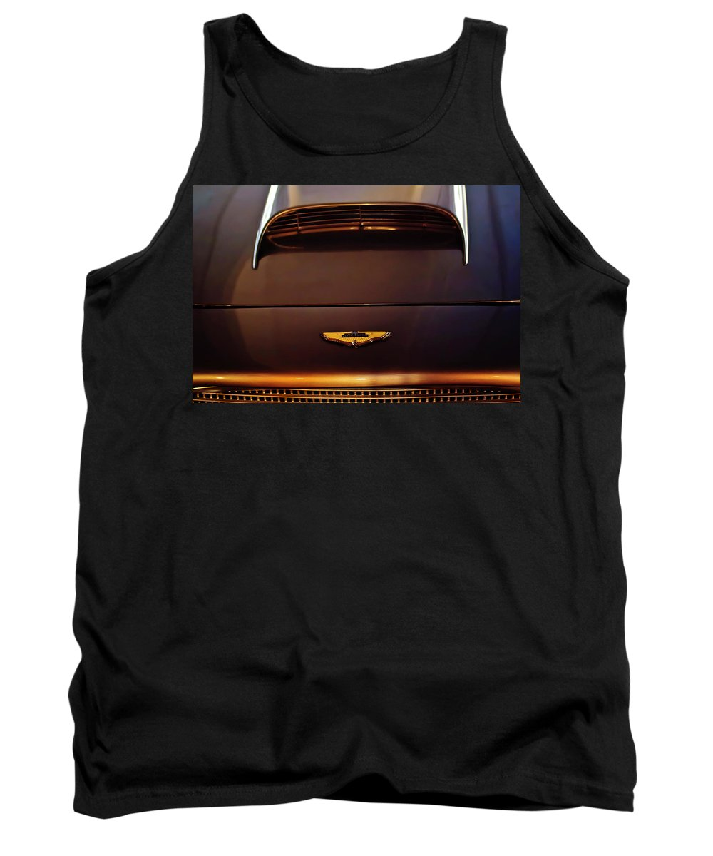 1961 Aston Martin Db4 Coupe Tank Top featuring the photograph 1961 Aston Martin Db4 Coupe Emblem by Jill Reger