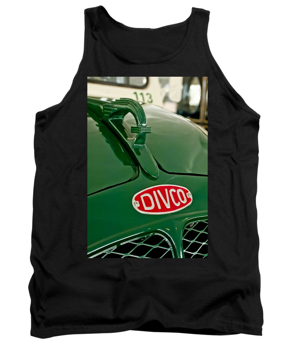 1965 Divco Milk Truck Tank Top featuring the photograph 1965 Divco Milk Truck Hood Ornament by Jill Reger