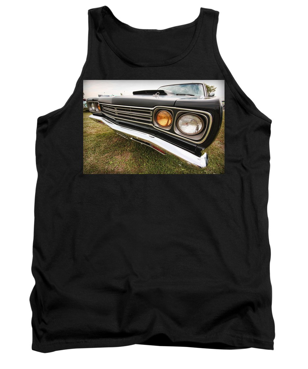 1970 Tank Top featuring the photograph 1969 Plymouth Road Runner 440-6 by Gordon Dean II