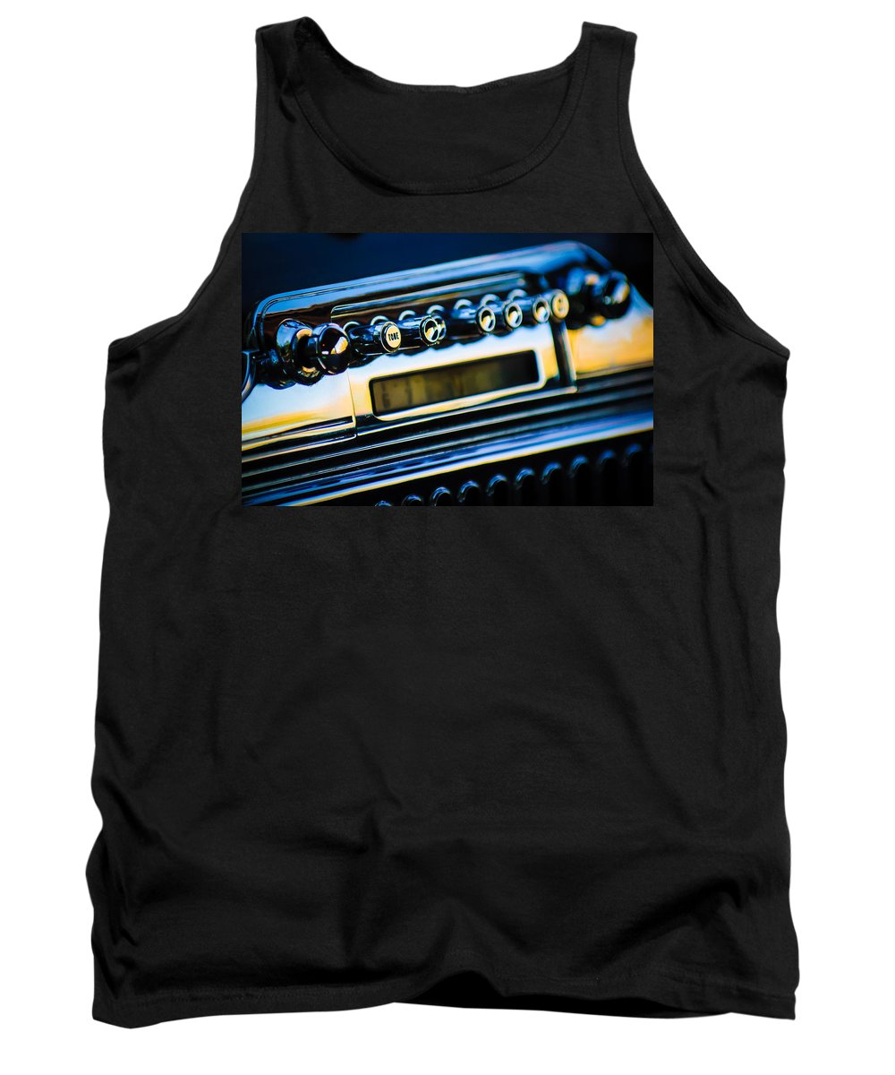 1947 Cadillac Model 62 Coupe Radio Tank Top featuring the photograph 1947 Cadillac Model 62 Coupe Radio by Jill Reger