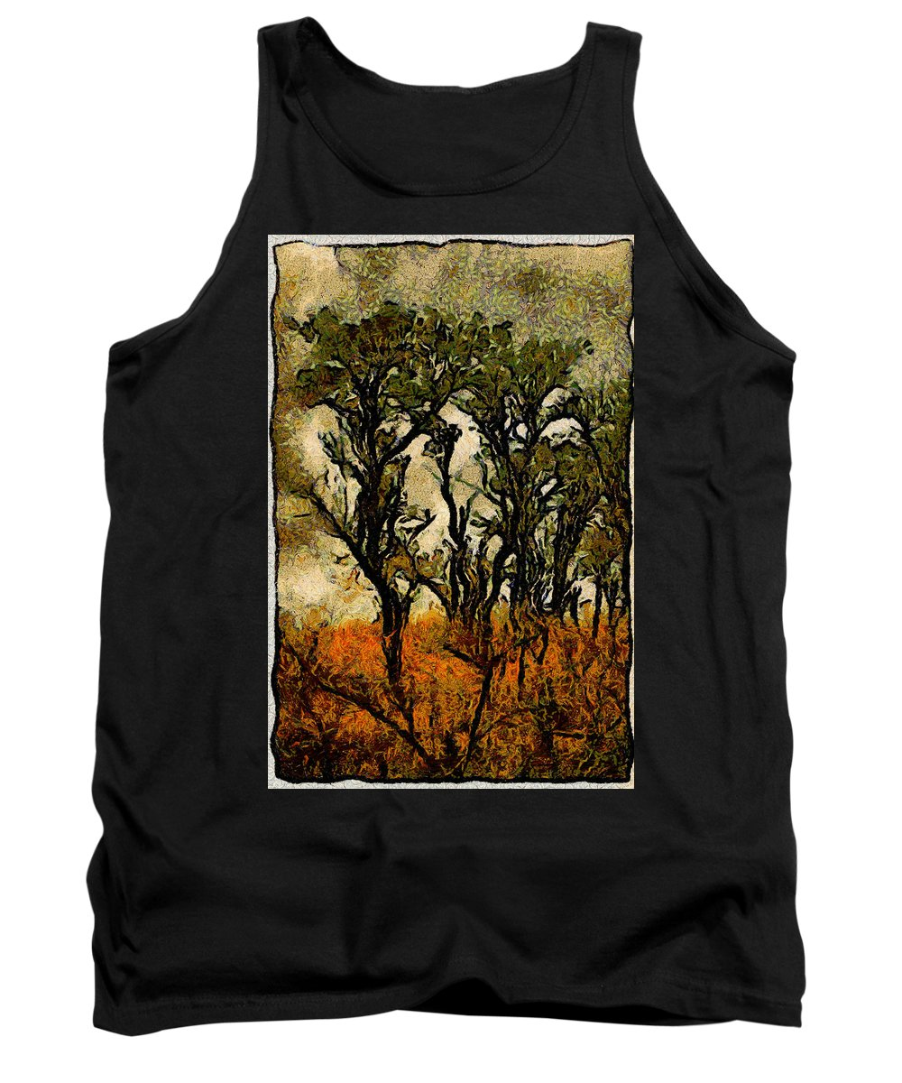 Tree Tank Top featuring the photograph Abstract Tree by Galeria Trompiz