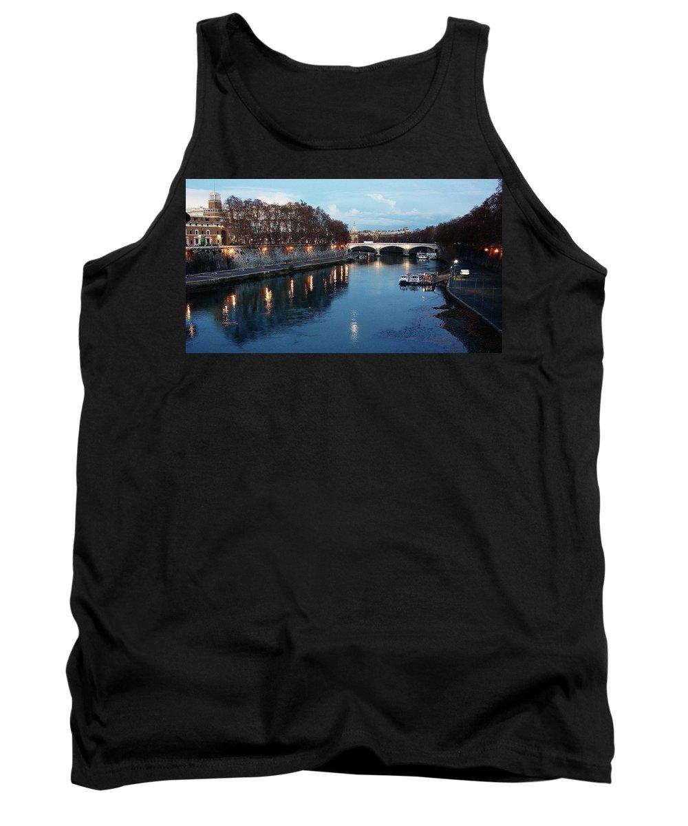 Rome Tank Top featuring the photograph Bridge In Rome by Brett Winn