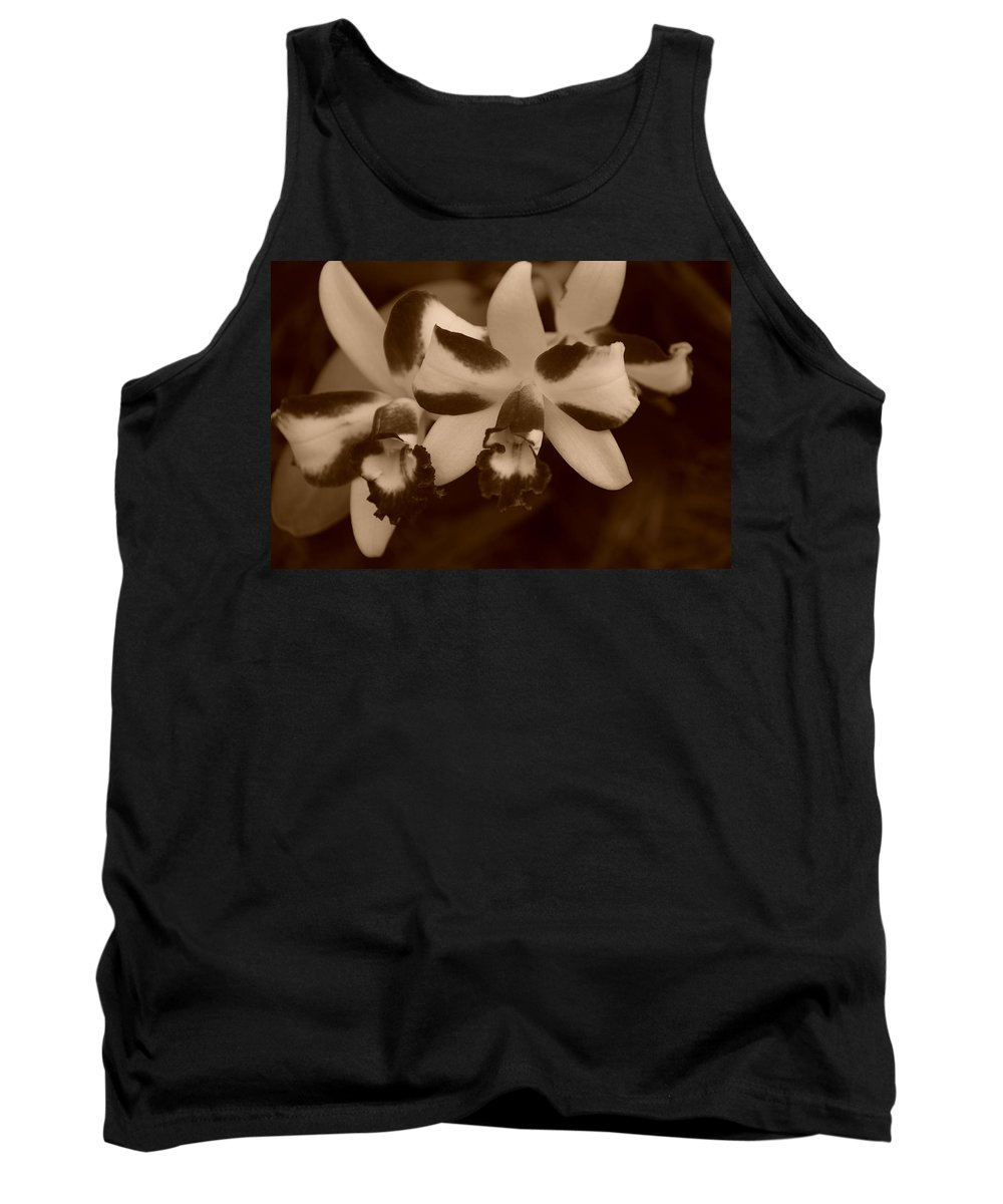 Macro Tank Top featuring the photograph Double Orchid by Rob Hans
